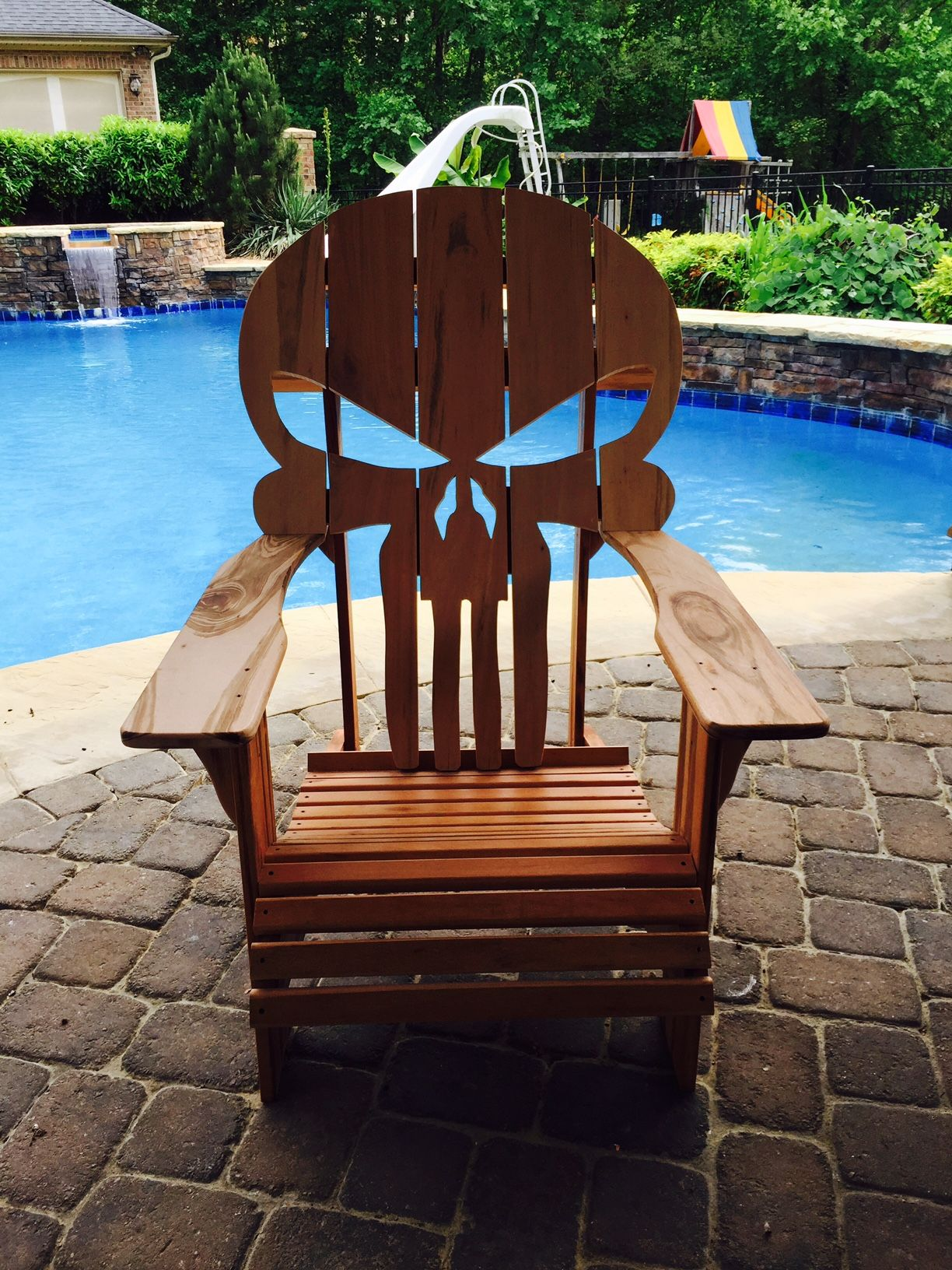 wooden skull chair plastic chairs target buy a custom adirondack made to order from carolina wood designs custommade com