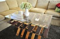 Handmade Glass Top, Wine Barrel Coffe Table by ...