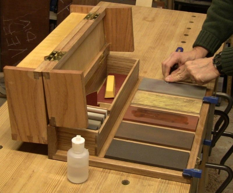Hand Made Woodworkers Portable Sharpening Station by Close Grain  CustomMadecom