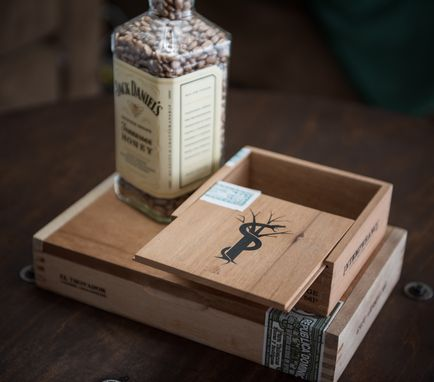 Buy A Hand Crafted Whiskey Bottle Cigar Box Lamp Jack