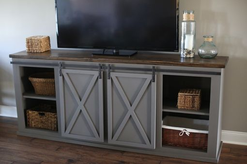 Buy a Custom Made Sliding Barn Door Entertainment Center