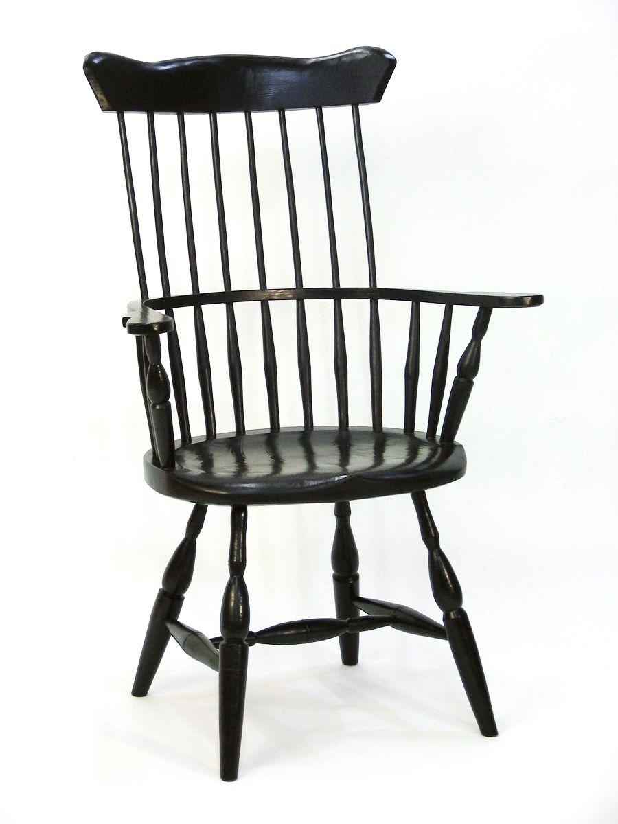 Custom American High Back Windsor Chair by Silvertree