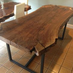 Live Edge Kitchen Table Red Cabinets Ideas Handmade Claro Walnut Dining By Ozma Design Custom Made