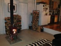 Hand Crafted Fireplace Log Rack by Harvest Home Steel ...