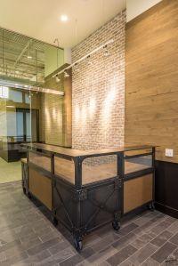 Handmade Custom L Shaped Reception Desk / Metal & Wood ...