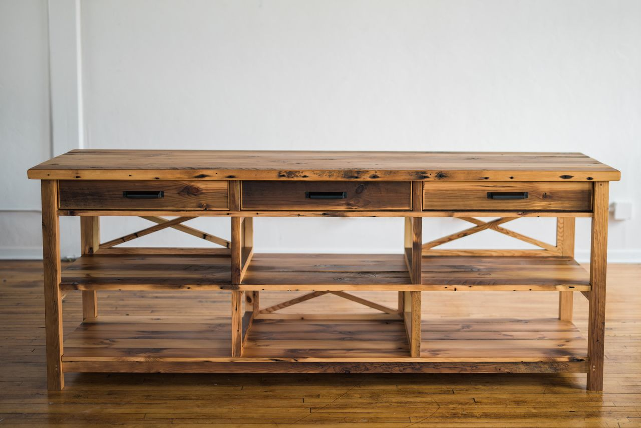 Buy Hand Made Cortland Cross Reclaimed Wood Kitchen