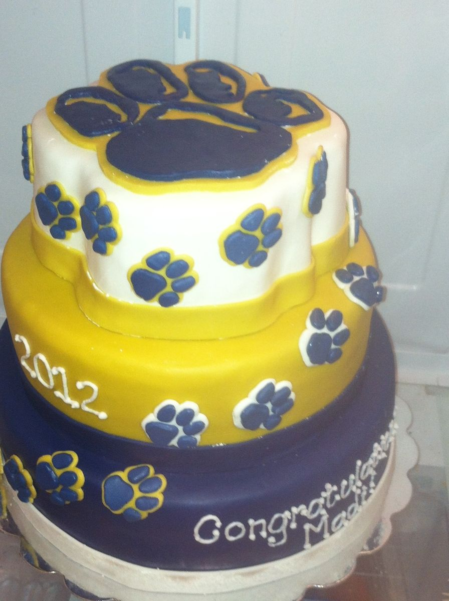 Hand Crafted University Of Pittsburgh Cake by Cakes By Rachele  CustomMadecom