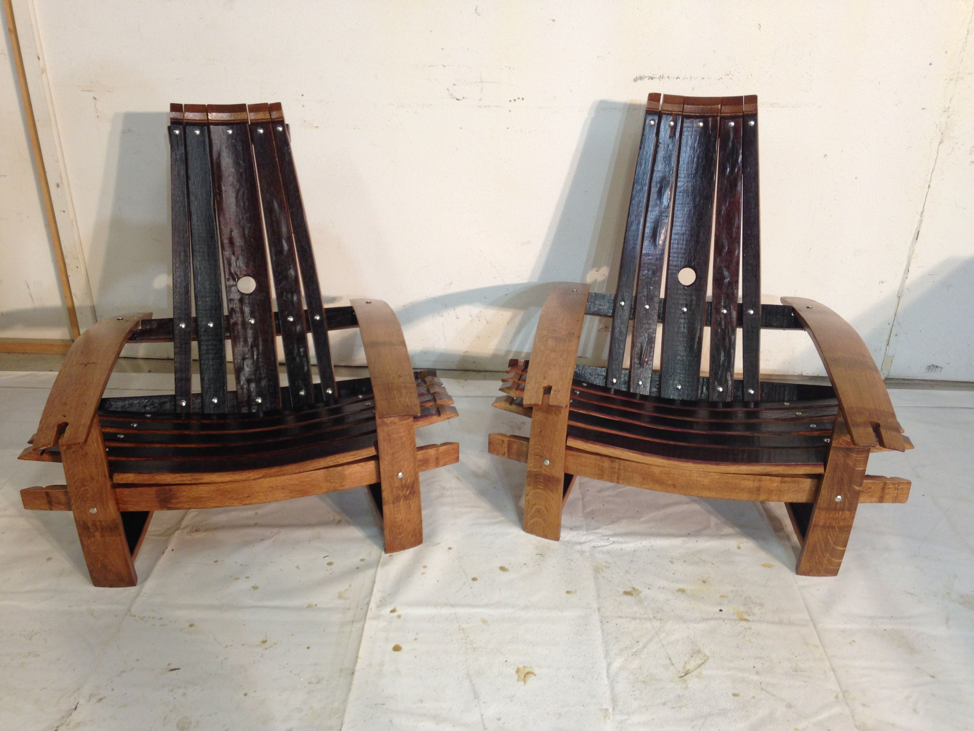 barrel stave adirondack chair plans antique rocking identification buy handmade wine chairs made to order from custom