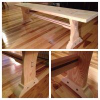 Custom Farm Table Bench by Feicht & Co | CustomMade.com