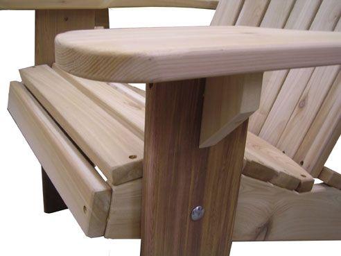 adirondack chair kit one piece patio cushions custom set by garden furniture mill