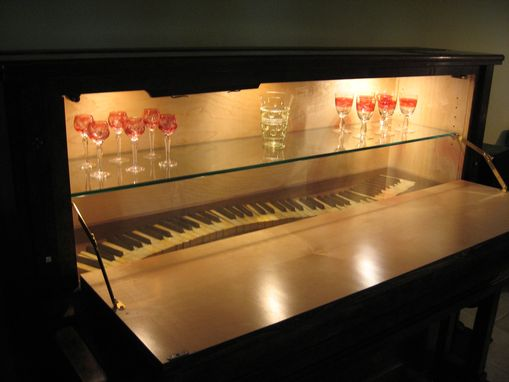 Custom Made Piano/Bar Cabinet