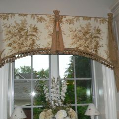 Elegant Kitchen Curtains Valances Cabinets On A Budget Custom Window Valance By Caty 39s Cribs Custommade