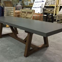 Concrete Kitchen Table Cabinets Long Island Hand Crafted Dining By 910 Castings Custommade Com Custom Made
