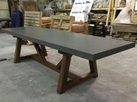 Hand Crafted Concrete Dining Table by 910 Castings ...