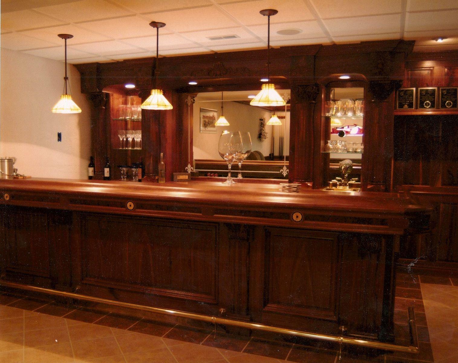 Custom Made Walnut Bar By Dugan's Woodworking