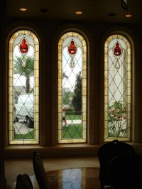 Hand Made Stained Glass Window Treatments To Coordinate ...