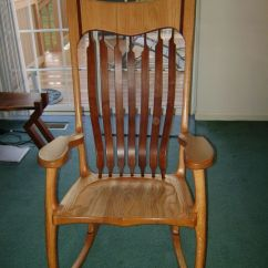 Oak Farmhouse Chairs Velvet Lounge Chair With Ottoman Custom Hal Taylor Rocking By Z & Woodworking | Custommade.com