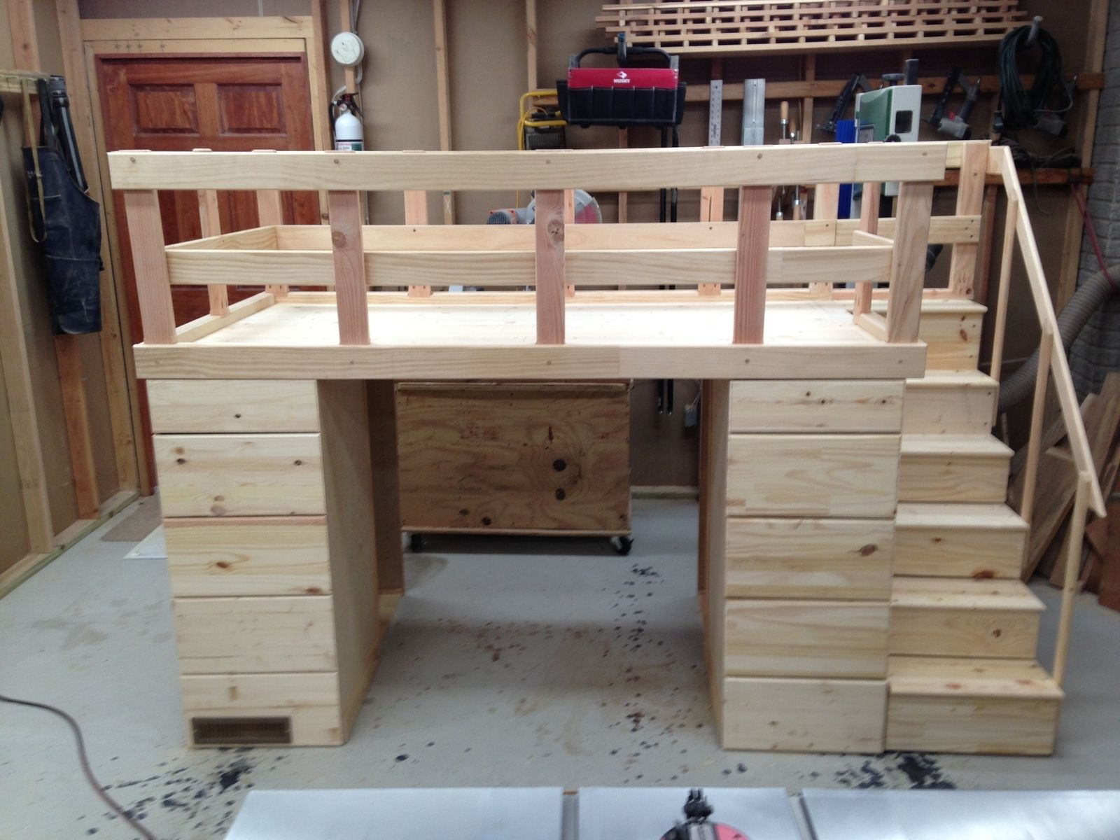 Hand Crafted Loft Bed With Storage By Cannon Custom