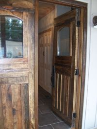 Hand Crafted Barn Wood Front Doors And Interior Door by ...