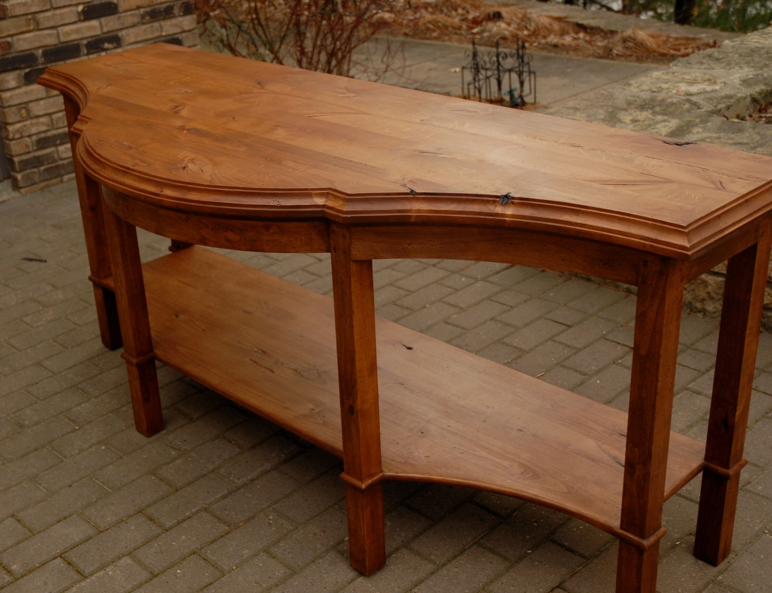 custom made sofa tables austin bed distress alder table by schmitt