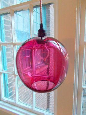 Custom 10 Inch Globe Hand Blown Glass Pendant Lighting by Providence Art Glass  CustomMadecom