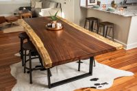 Buy a Hand Made Live Edge Acacia Dining/Conference Table ...