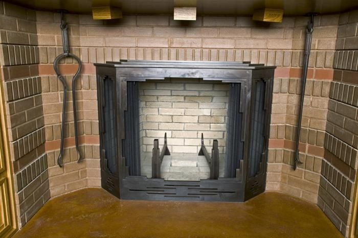 Handmade Frank Lloyd Wright Style Fireplace by Steve Fontanini Blacksmith  CustomMadecom