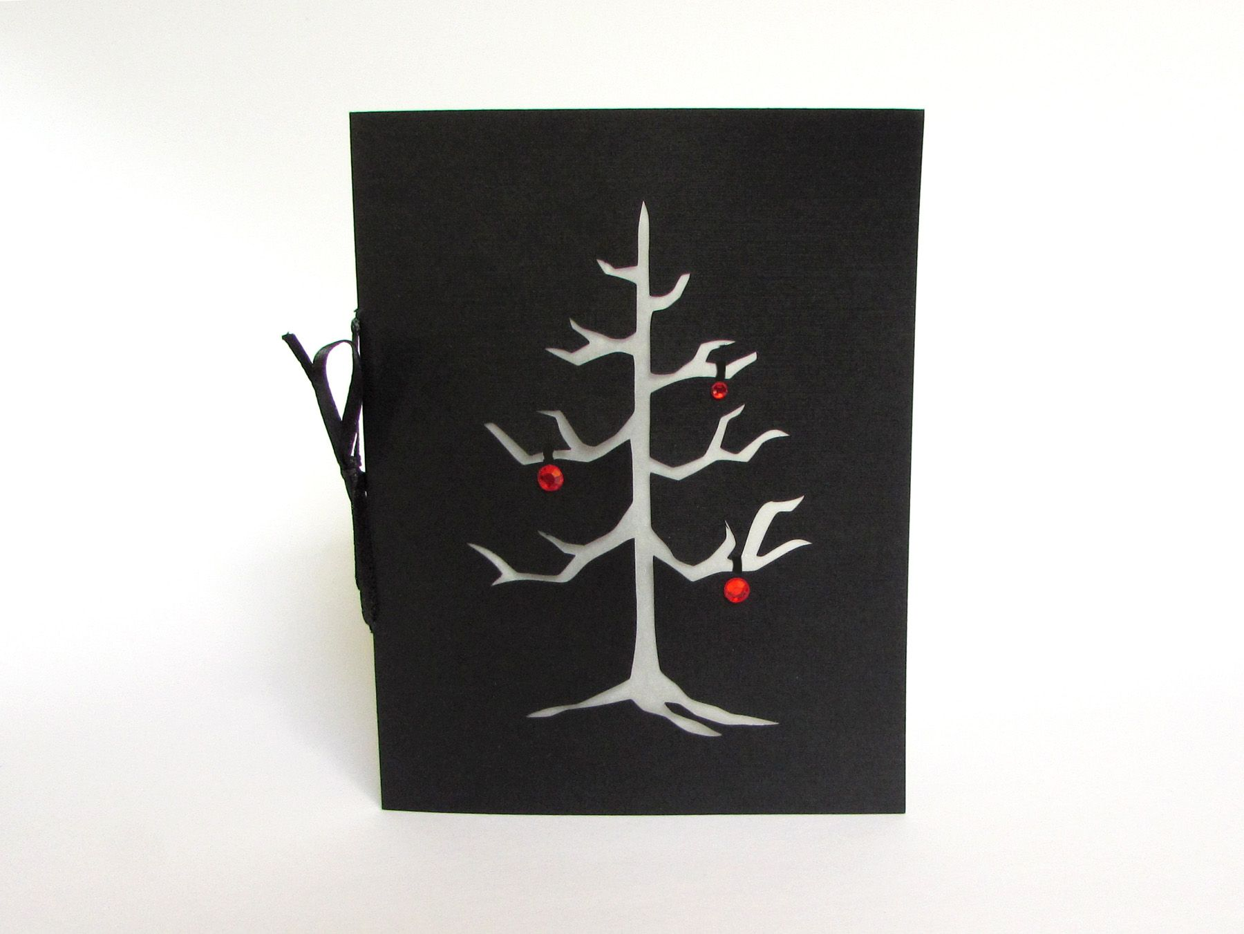 Buy A Hand Made Gothic Christmas Tree Black Silhouette