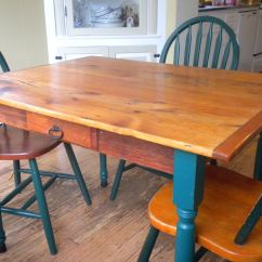 Farm Style Kitchen Table Kidkraft Deluxe Big & Bright 53100 Hand Crafted By Dmansell Creative