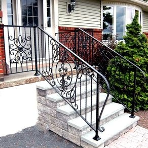 Custom Railings And Handrails Custommade Com | Wrought Iron Hand Railings For Outdoor Stairs | Indoor | Colonial | Cast Iron | Interior | Bronze