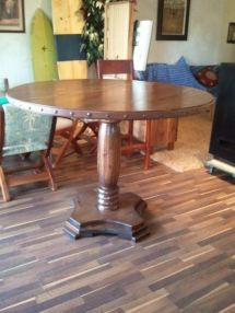 hand crafted cypress outdoor table