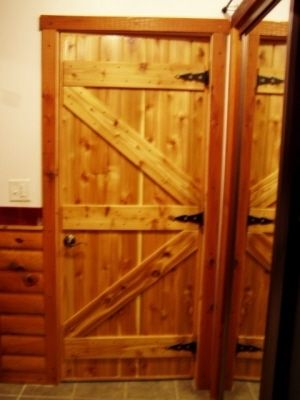 Hand Made Custom Interior Pine Cabin Doors By Drews Up