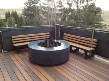 Handmade Floating Concrete Fire Pit Surround