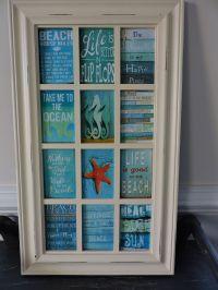 Buy a Handmade Beach Theme Decoupage Glass Panel Wall ...