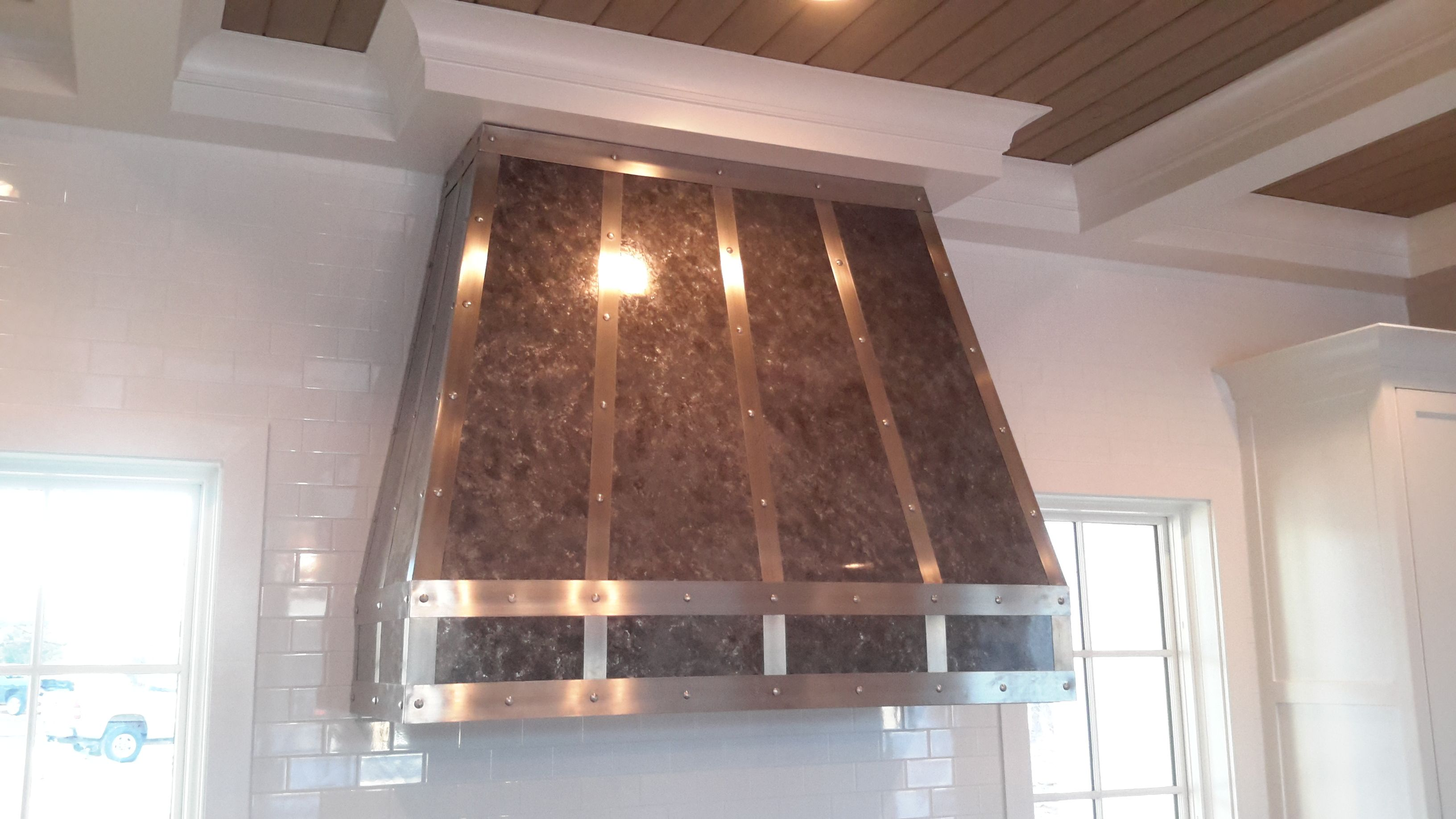 chinese kitchen range hood shelves for cabinets buy a handmade the herlitz custom zinc and stainless