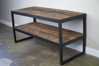 Buy a Hand Made Industrial Tv Stand. Reclaimed Wood