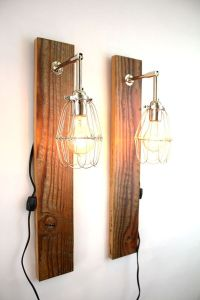 Hand Made 'Mesic' Wall Sconce // Reclaimed Wood Lamp ...