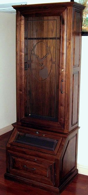 Hand Made Gun Cabinet by Jlb Woodworking  Carpentry