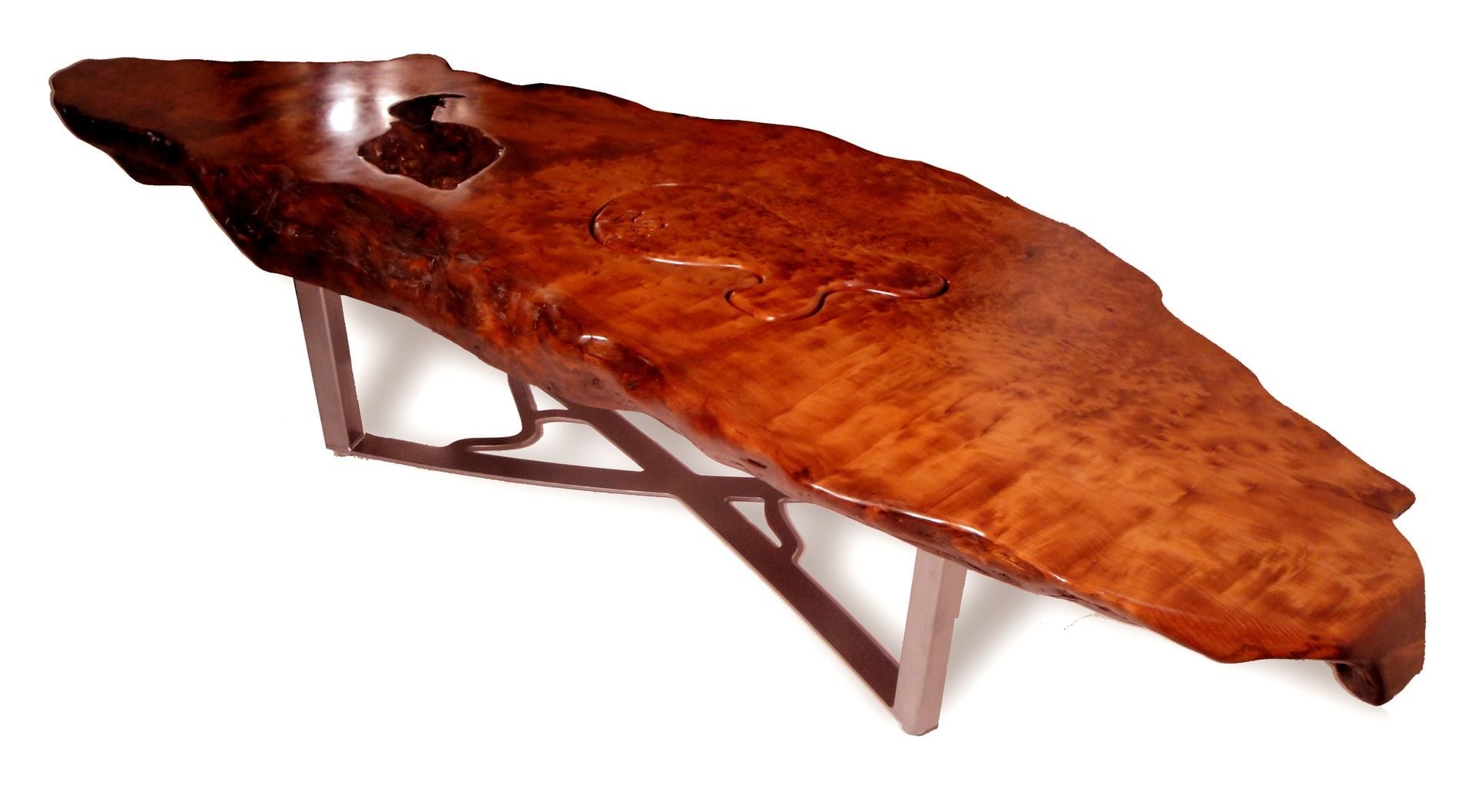 Custom Made Redwood Burl Coffee Table By Scott Dworkin