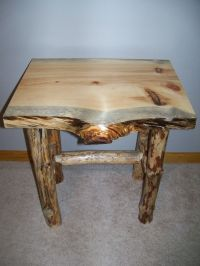 Hand Crafted Log End Table And Coffee Table. by Beach Home ...