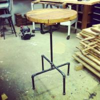 Hand Made Industrial Cast Iron Pipe Cafe Bar Table by J&S ...