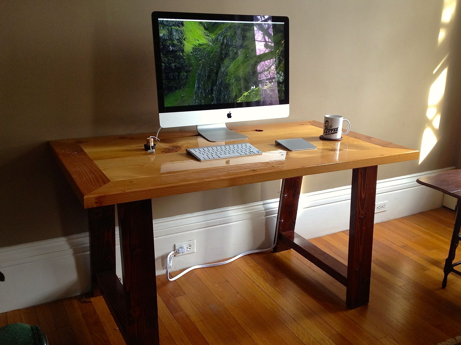 Hand Made Industrial MillInspired Reclaimed Wood Desk by