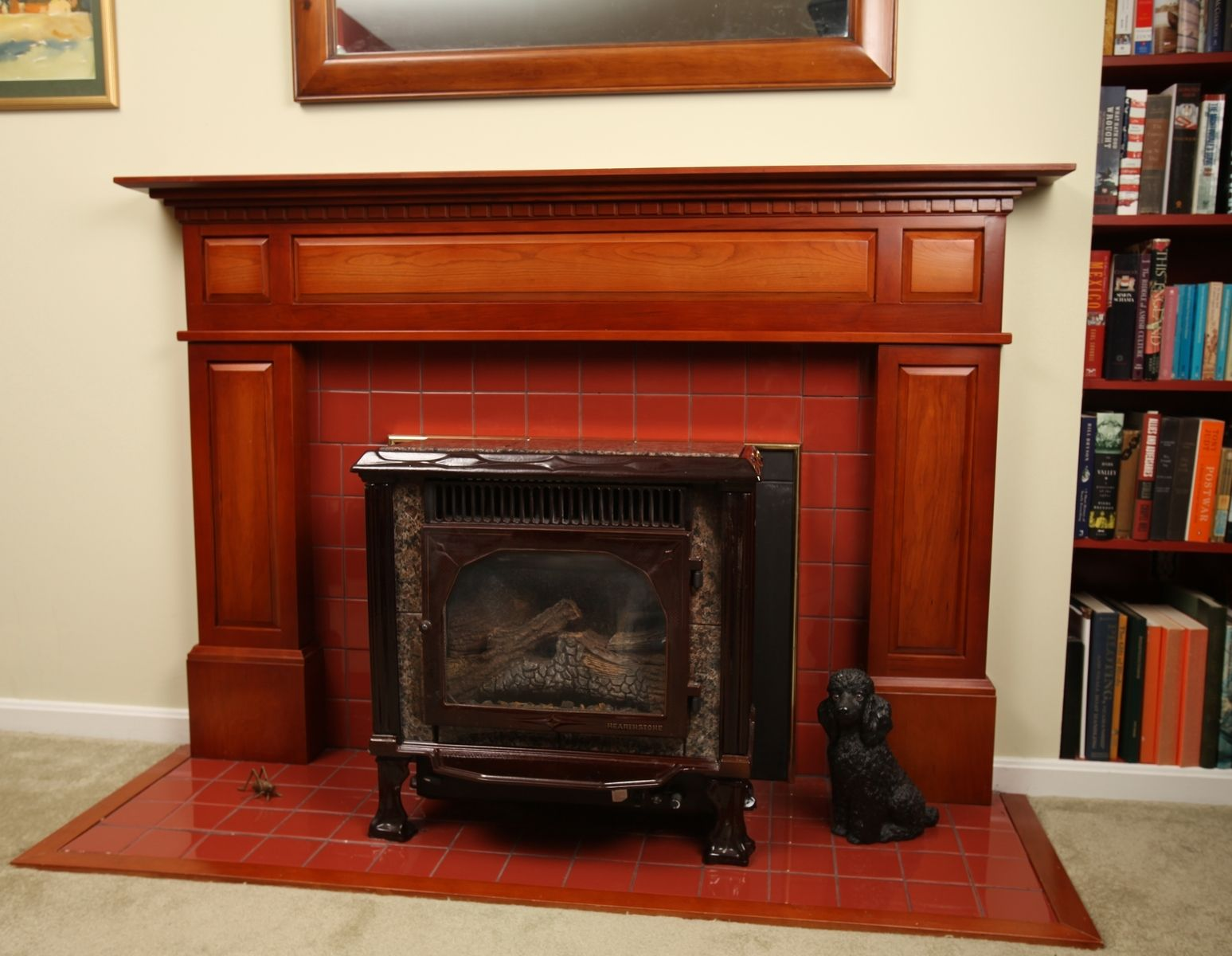Hand Crafted Federal Style Fireplace Surround  In Cherry