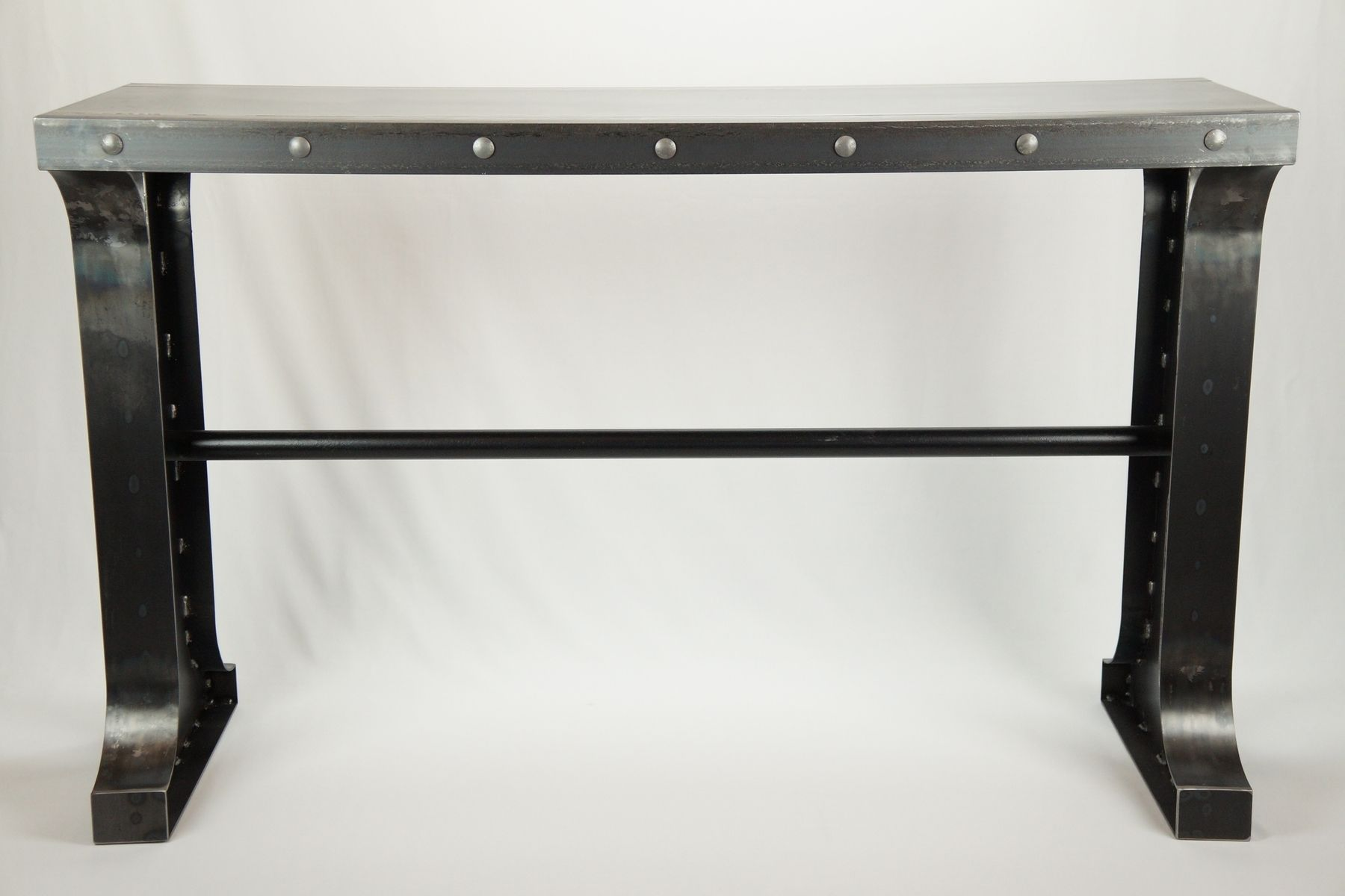 custom made sofa tables best compact double bed buy a industrial metal console table to