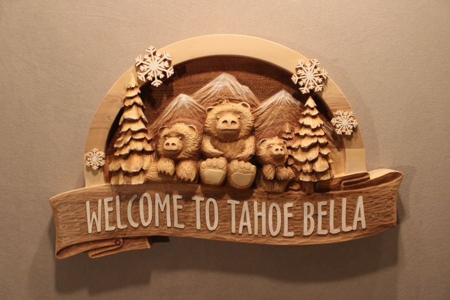 Custom Hand Carved Wood Signs For Home Business Cabin