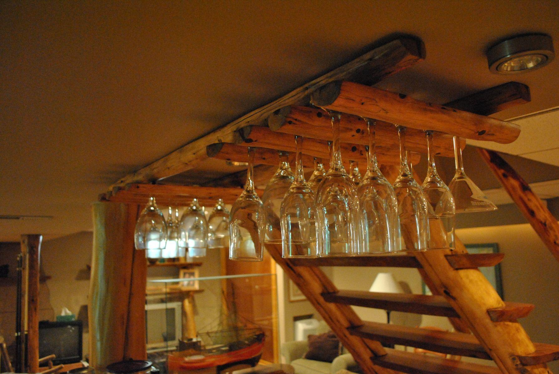 Hand Made Custom Wine Glass Rack by Phils Woodwork  CustomMadecom