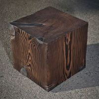 Hand Crafted Solid Wood Cube Table by A+R_Busch ...