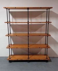 Handmade Industrial Iron Pipe Storage Shelf by Object A ...
