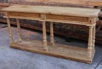 Hand Crafted Reclaimed Wood Console Table With Turned Legs ...