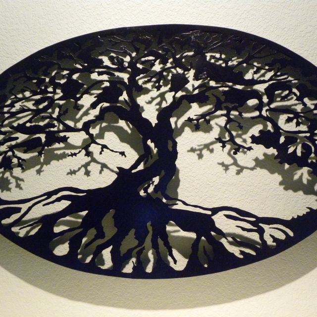 buy a custom oval tree of life metal wall art made to order from